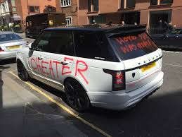 old white land rover hope she was worth it u0027 spurned lover daubs graffiti over
