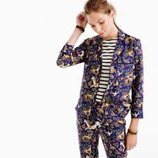 collection s for j crew pajama top in midnight unicorn