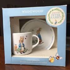 wedgwood rabbit nursery set nib wedgwood beatrix potter rabbit 2 nursery set cup