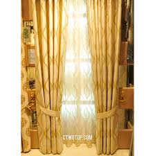 beige luxury wave striped victorian thermal window curtains