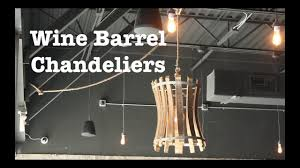 Chandeliers For Less by Wine Barrel Chandeliers For Escape Brewing How To Youtube