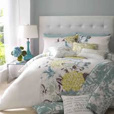 Blue Yellow Comforter Contemporary Bedroom With Yellow Gray Blue Floral Comforter Set