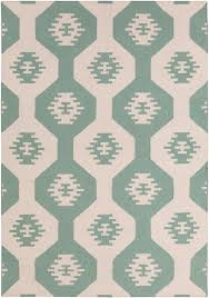 lima southwest flatweave rug in mint by chandra rugs