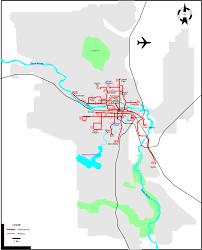 Calgary Map Calgary 1945