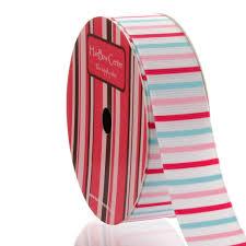 striped grosgrain ribbon 7 8 pink blue stripes grosgrain ribbon