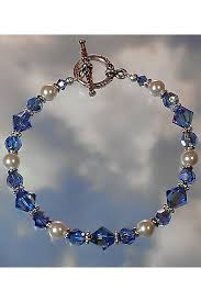 bead pearl bracelet images Swarovski sapphire ab crystal white pearl beaded bracelet jpg