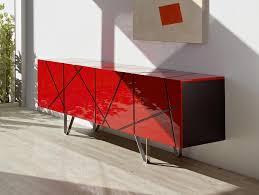 Black Modern Sideboard Modern Stripes 4 Door Sideboard In High Gloss And Oak Veneer