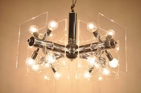 Orb Light Fixture by Mid Century Modern Chrome And Lucite Sputnik Orb Chandelier For