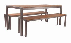 Synthetic Wood Patio Furniture by Tan Synthetic Wood Aluminum Restaurant Bar Height Table 31