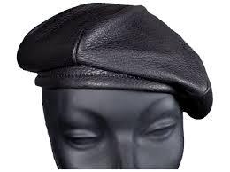 barret hat deerskin leather beret