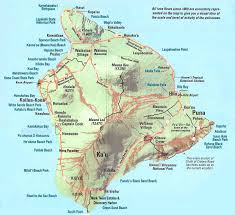 Road Map Of America by Large Map Of Big Island Of Hawaii With Relief Roads And Cities