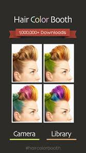 see yourself in different hair color hair color booth on the app store