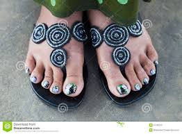 painted feet nails royalty free stock photo image 31782515