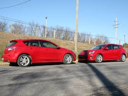 mazda 3 2009 2010 mazda 3 vs mazdaspeed 3 mazda sports hatchback review