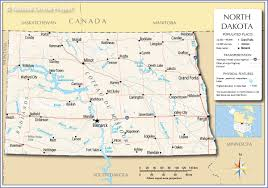50 States Map With Capitals by Reference Map Of North Dakota Usa Nations Online Project