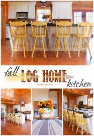 Fall Kitchen Decor - fall log home kitchen creative cain cabin