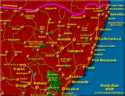 map of new south wales east coast of nsw map