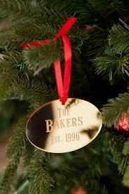 family name acrylic tree ornament