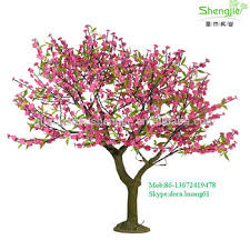 sjd015 pink artificial lighted trees flower trees decorative