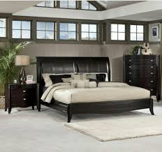 king size sleigh bed in dark merlot leather headboard with