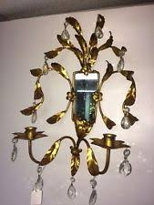 Crystal Candle Sconce Crystal Candle Sconces Ebay