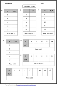 in out boxes worksheets include addition subtraction
