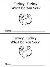 turkey turkey emergent reader preschool kindergarten thanksgiving