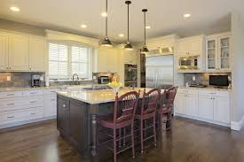 white kitchen cabinets with black island 37 kitchen designs home designs