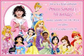 Princess Invitation Card Disney Princess Birthday Invitation Templates