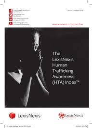 lexisnexis training on the go lexisnexis human trafficking awareness index