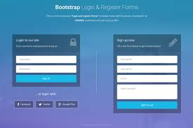 Template For Login Form by Bootstrap Login And Register Forms In One Page 3 Free Templates