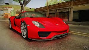 red porsche 918 porsche 918 for gta san andreas