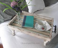 Diy Reclaimed Wood Furniture Reclaimed Wood Bed Tray Diy Scavenger Chic