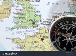 Scandinavia Map Compass On Map Pointing Norway Sweden Stock Photo 207995662
