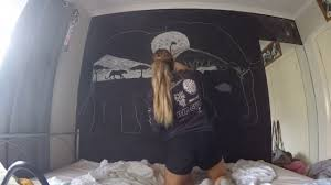bedroom feature wall chalk drawing africa youtube