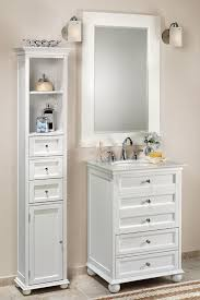 White Linen Cabinets For Bathroom Appealing Palmetto Bathroom Linen Storage Cabinet In White