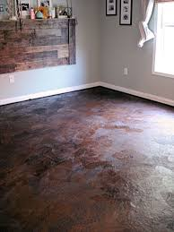 tutorial for brown paper bag floor gives you detailed instructions