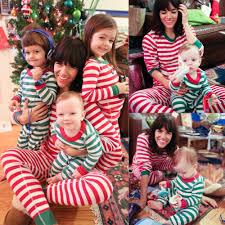striped pyjamas matching family nightwear baby