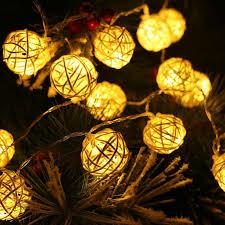 christmas lights garlands 4m 20 led rattan ball led string fairy