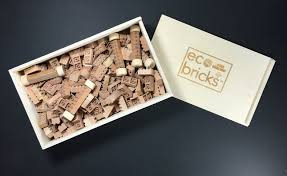 eco bricks are made from cherry wood for greener lego play