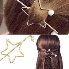 bun holder boho pearl hair pin ponytail bun holder wear with