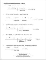 mole practice worksheet converting between mass moles and molecules