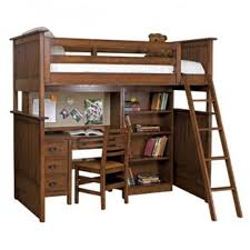 Desk And Bookshelves by Wood Loft Bed With Desk And Storage Drawers Plus Tall Bookshelves