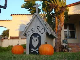 Halloween House Decorations Uk by Diy Zero U0027s Doghouse Nightmare Before Christmas Youtube