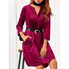 red velvet midi dress cheap wholesale online drop shipping