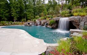 waterfalls for pools inground home design ideas