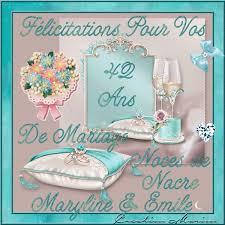 42 ans de mariage felicitations maryline emile pour vos 42 ans de mariage