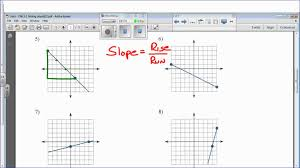 slope of a line worksheets kuta cm 2 1 finding slope