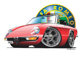 sports cars drawings alfa spider2 red stefan u0027s auto art
