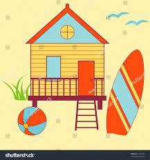 summer beach house stock vector 10479004 shutterstock